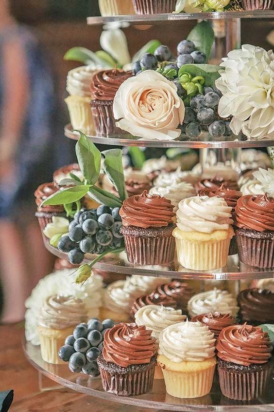 cupcake de ganache